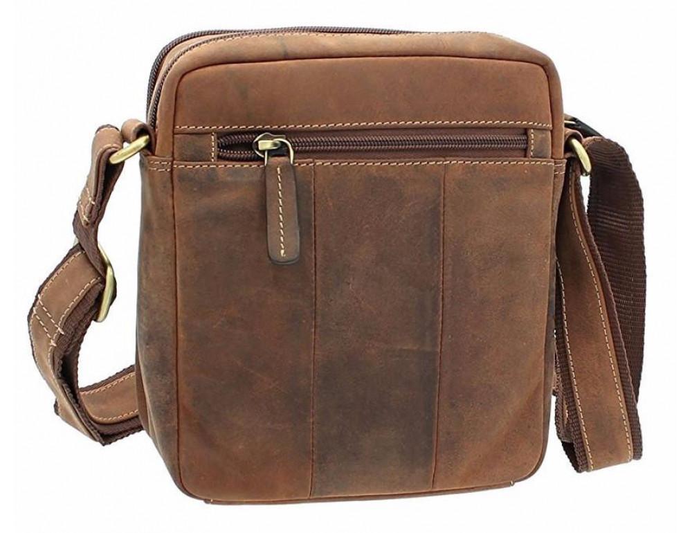Коричневая мужская сумка мессенджер Visconti S8 OIL TAN - Фото № 6