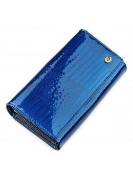 Синій жіночий гаманець з лакової шкіри ST Leather S9001B