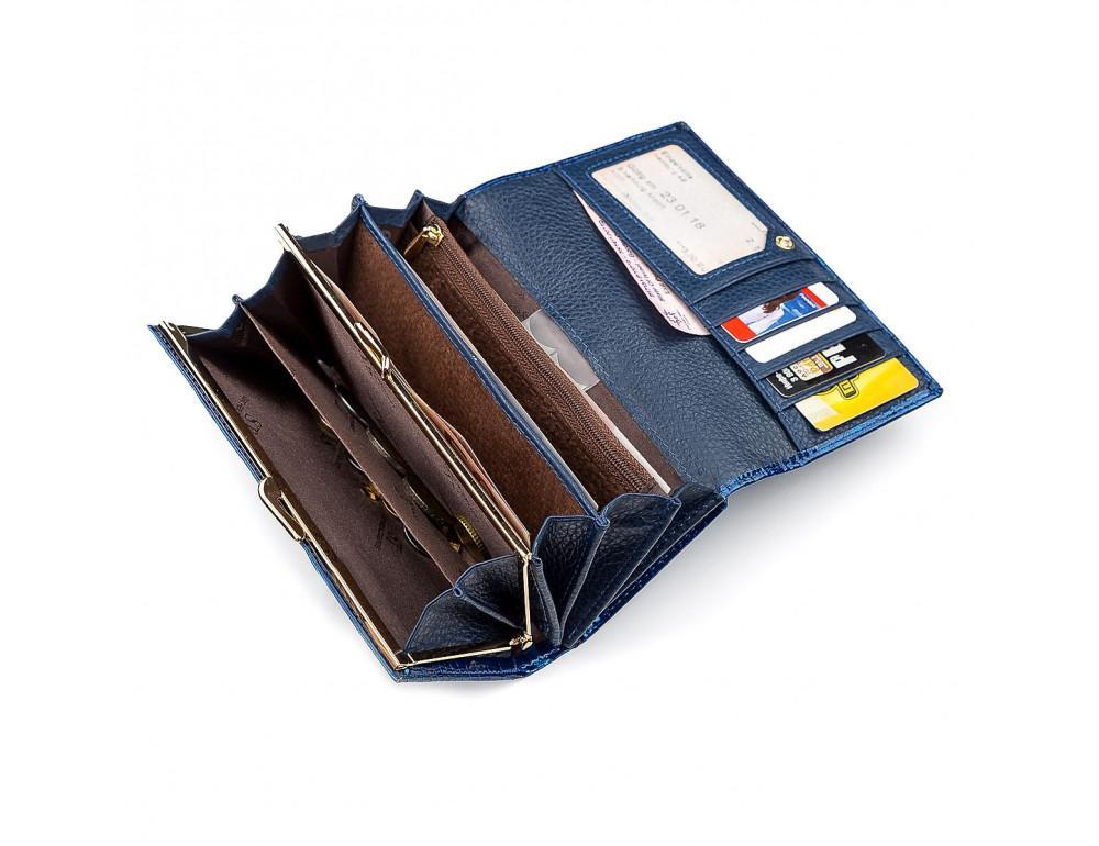 Синий женский кошелёк из лаковой кожи ST Leather S9001B - Фото № 4