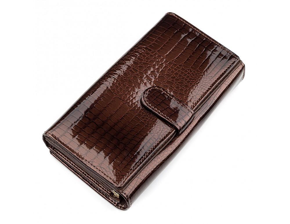 Коричневый женский кошелёк из лаковой кожи ST Leather S9001C - Фото № 2