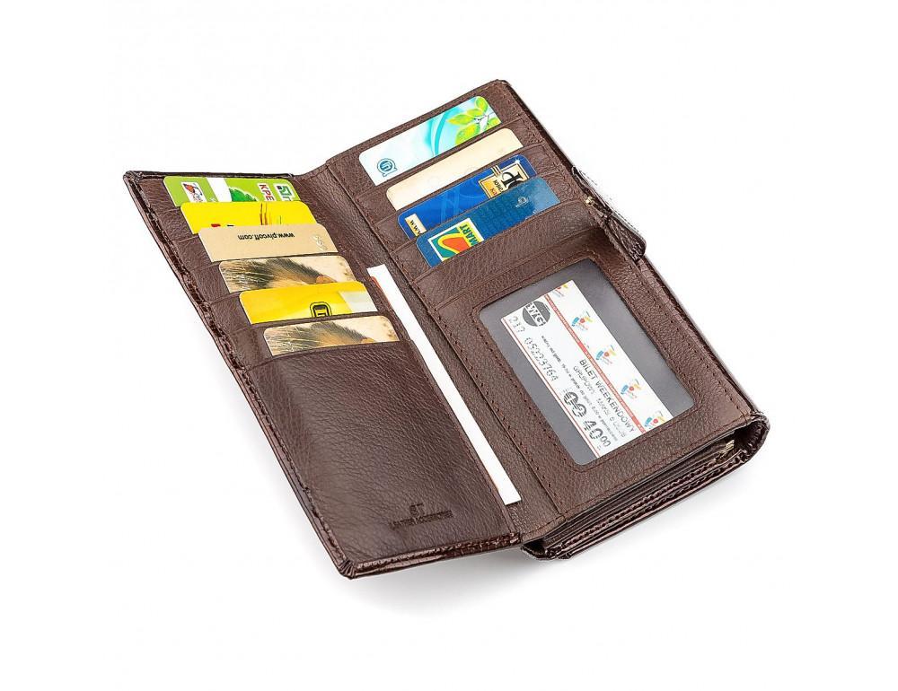 Коричневый женский кошелёк из лаковой кожи ST Leather S9001C - Фото № 3