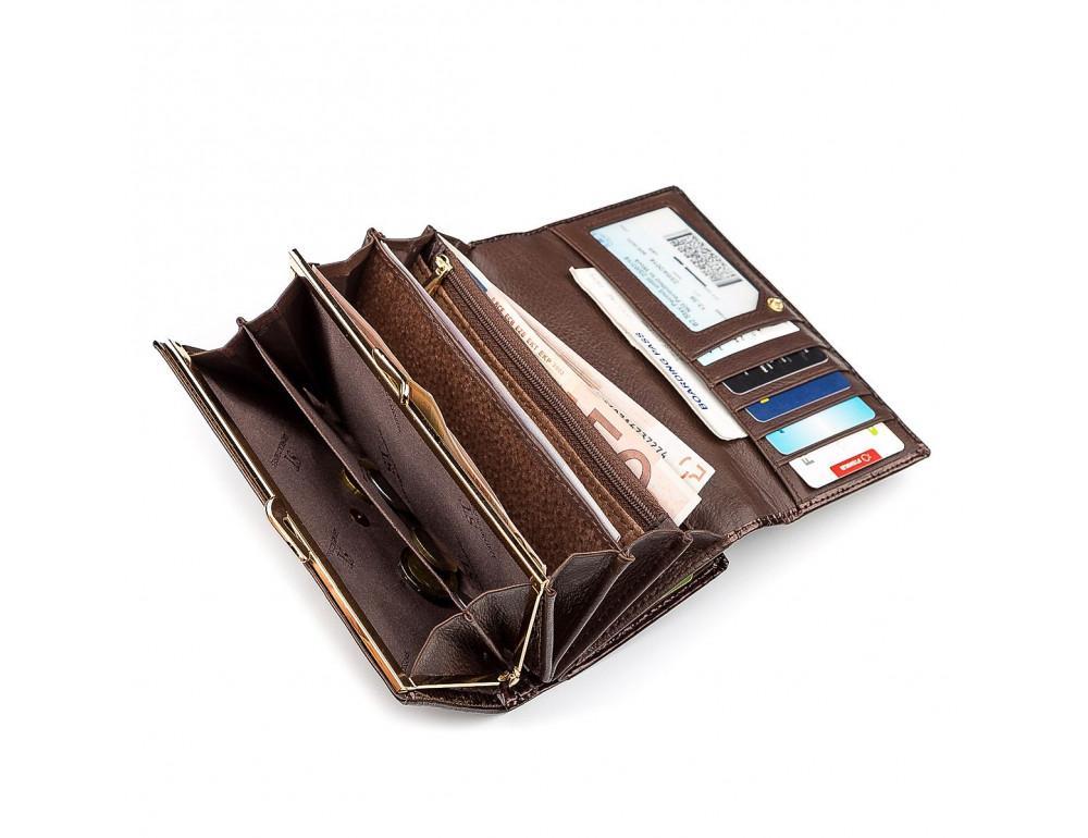 Коричневый женский кошелёк из лаковой кожи ST Leather S9001C - Фото № 5