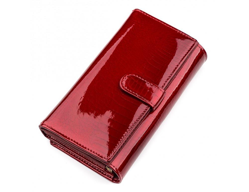 Красный лаковый кошелёк для женщин ST Leather S9001R - Фото № 2