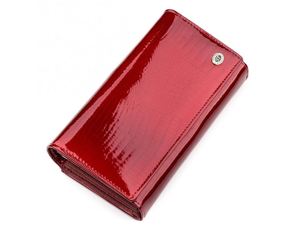 Красный лаковый кошелёк для женщин ST Leather S9001R - Фото № 1