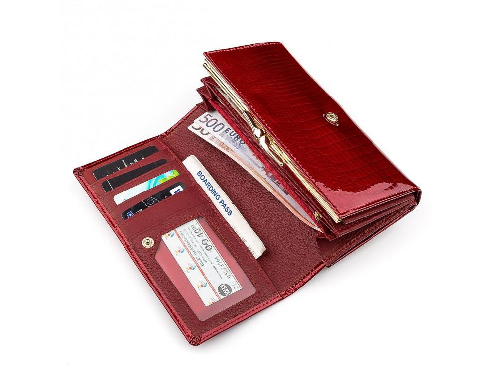 Красный лаковый кошелёк для женщин ST Leather S9001R - Фото № 3