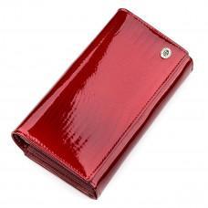 Красный лаковый кошелёк для женщин ST Leather S9001R