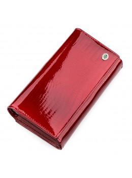Червоний лаковий гаманець для жінок ST Leather S9001R