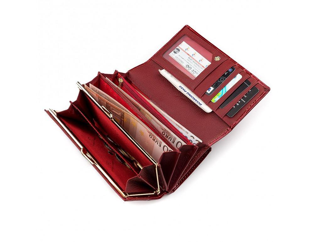 Красный лаковый кошелёк для женщин ST Leather S9001R - Фото № 4
