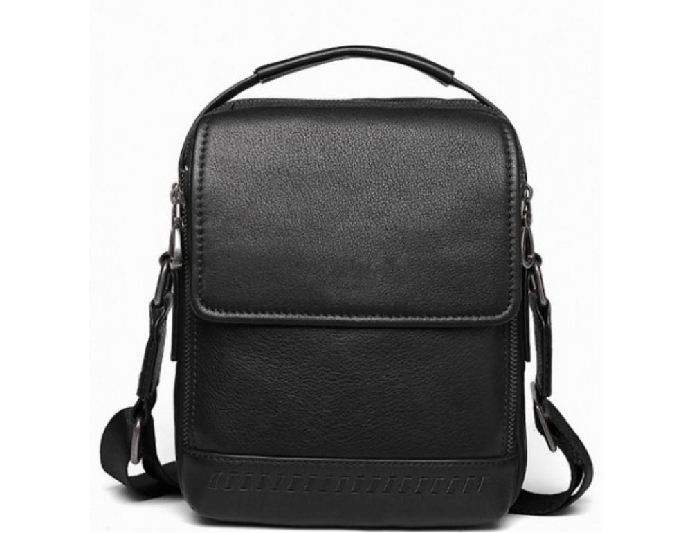 Чёрная мужская сумка-мессенджер Tiding Bag SM8-006A - Фото № 1