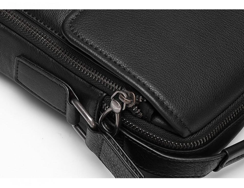 Чёрная мужская сумка-мессенджер Tiding Bag SM8-006A - Фото № 3