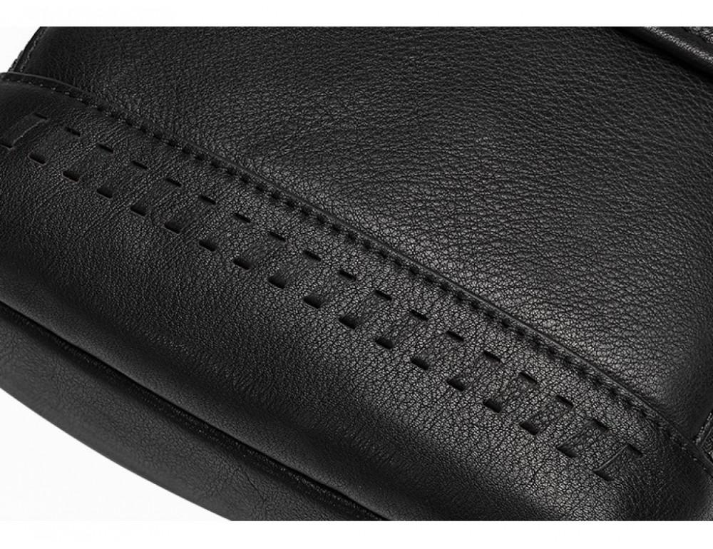 Чёрная мужская сумка-мессенджер Tiding Bag SM8-006A - Фото № 4