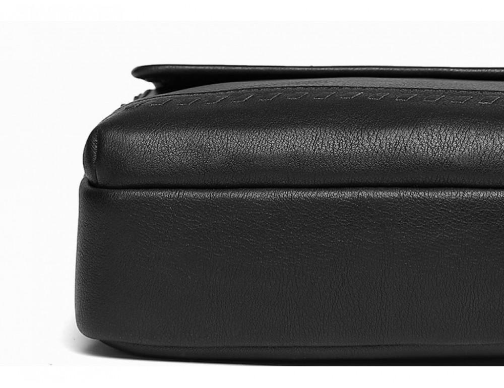 Чёрная мужская сумка-мессенджер Tiding Bag SM8-006A - Фото № 5