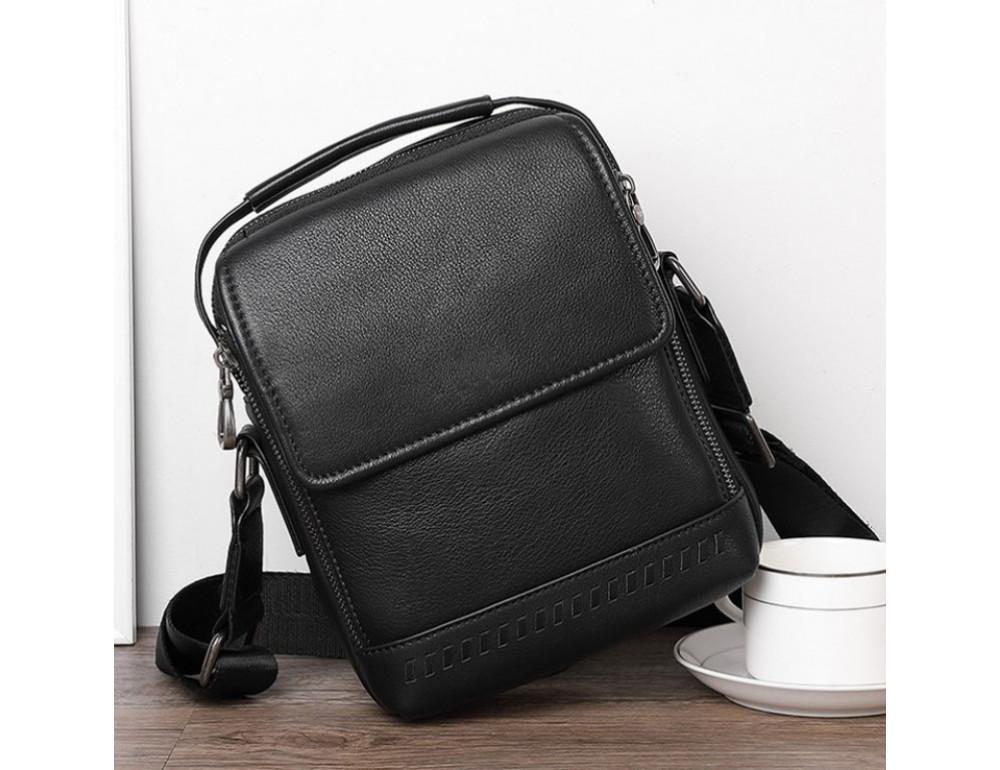 Чёрная мужская сумка-мессенджер Tiding Bag SM8-006A - Фото № 6