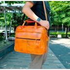 Мужской кожаный портфель Tiding Bag 7146LB светло-коричневый - Фото № 101