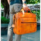 Мужской кожаный портфель Tiding Bag 7146LB светло-коричневый - Фото № 102