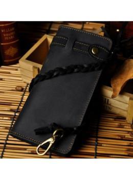 Мужской кошелек Tiding Bag 8031A Чёрный