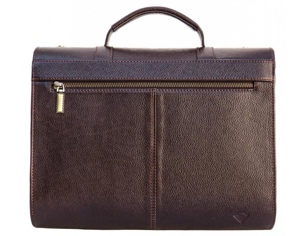 Мужской кожаный портфель black diamond BD33CF коричневый - Фото № 2