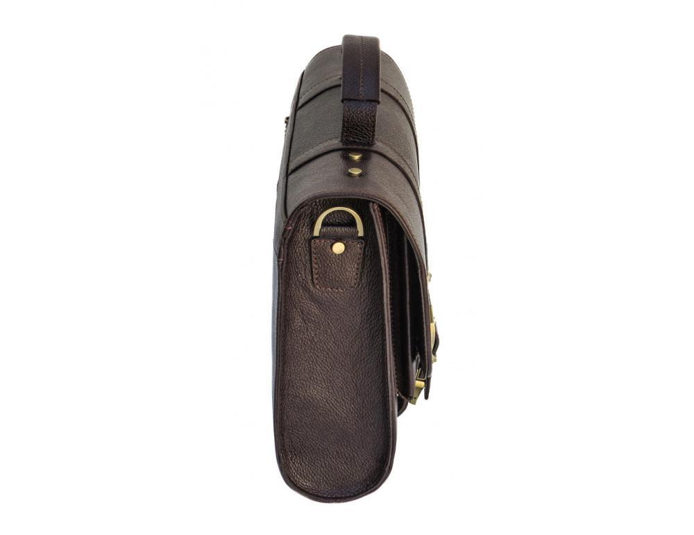 Мужской кожаный портфель black diamond BD33CF коричневый - Фото № 3