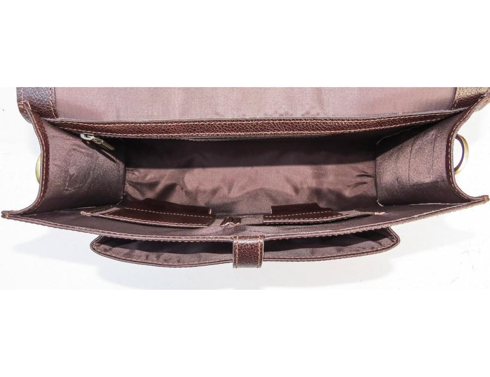 Мужской кожаный портфель black diamond BD33CF коричневый - Фото № 8