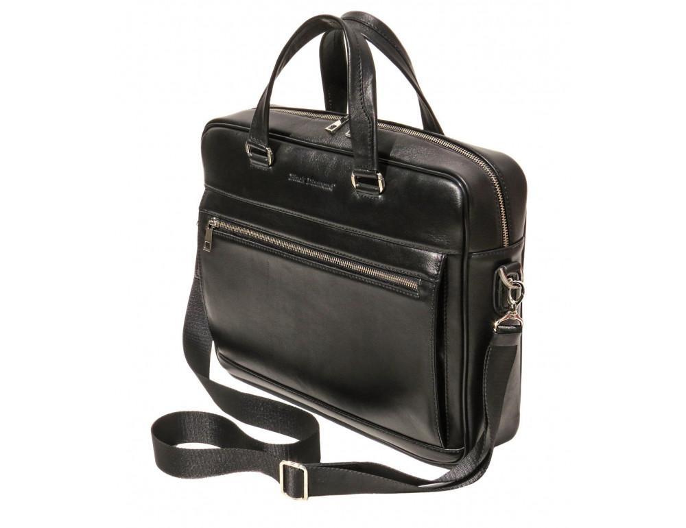 Чоловіча шкіряна сумка Black Diamond BD47v2A чорна