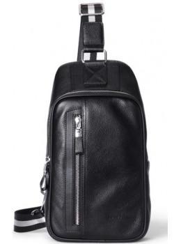 Мужская кожаная сумка-рюкзак Hautton DB357 чёрный