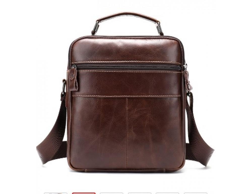 Мужская сумка через плечо Tiding Bag M37-369C коричневая - Фото № 2