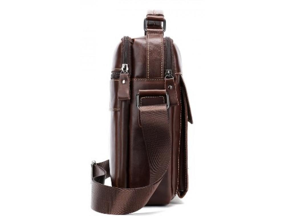Мужская сумка через плечо Tiding Bag M37-369C коричневая - Фото № 3