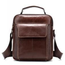 Мужская сумка через плечо Tiding Bag M37-369C коричневая