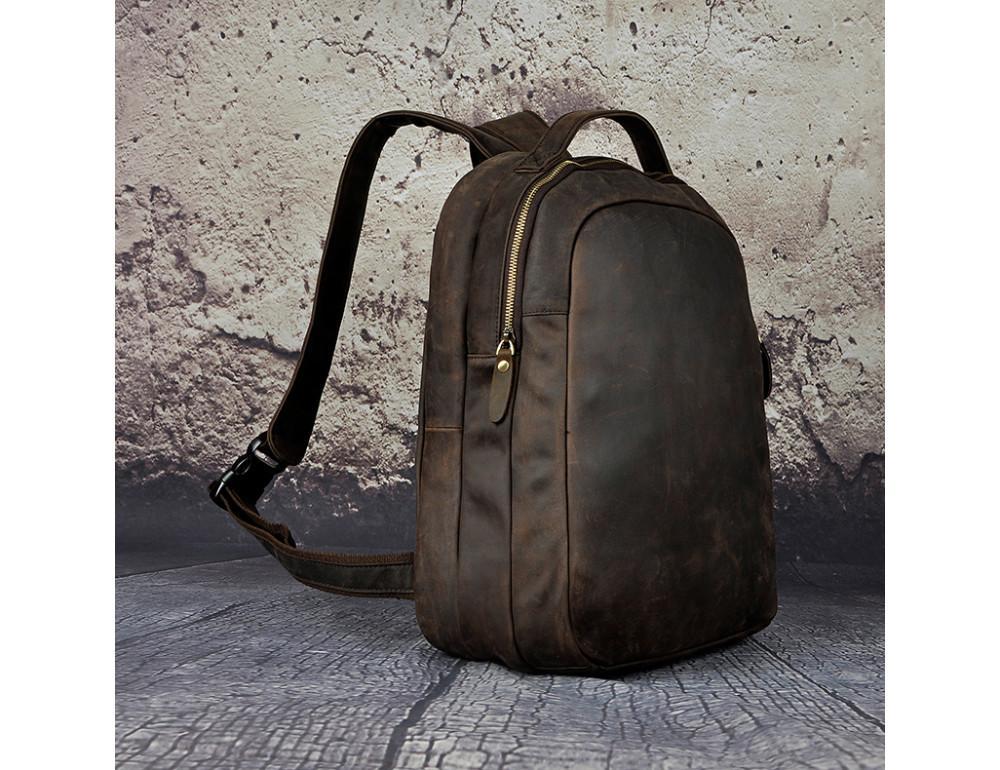 Кожаный рюкзак Tiding Bag M37-XB621d тёмно-коричневый - Фото № 1