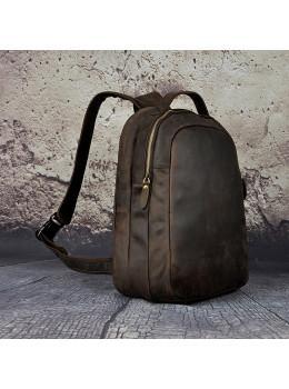 Кожаный рюкзак Tiding Bag M37-XB621d тёмно-коричневый