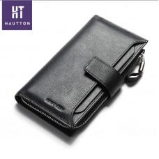 Кожаный клатч HAUTTON QB102A чёрный
