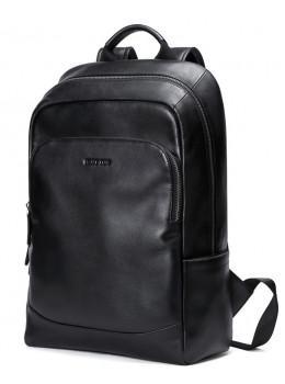 Мужской кожаный рюкзак Hautton SZB006A чёрный