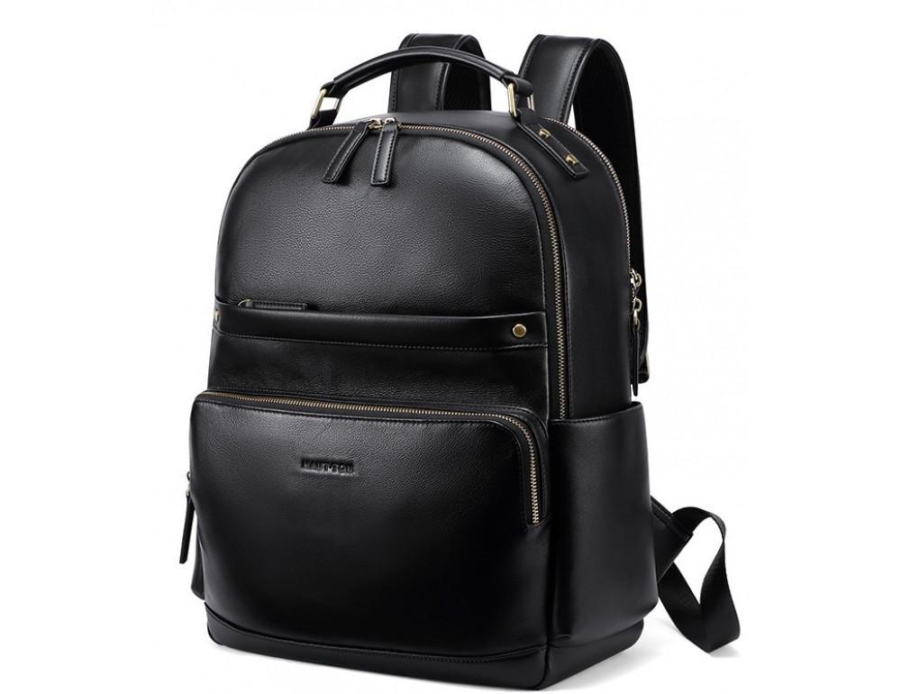 Чоловічий шкіряний рюкзак Hautton SZB121A чорний