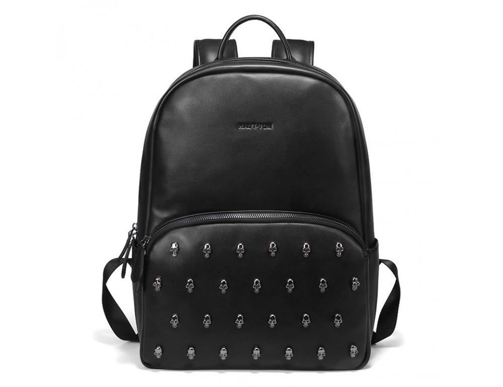 Чоловічий шкіряний рюкзак Hautton SZB127A чорний