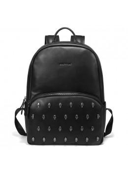 Мужской кожаный рюкзак Hautton SZB127A чёрный