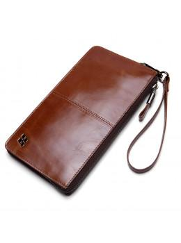 Мужской кожаный клатч HAUTTON SZB41C коричневый