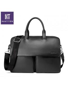 Шкіряна сумка Hautton SZB9183AG темно-сіра