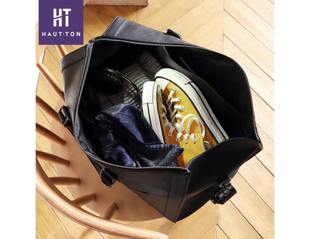 Молодёжная дорожная сумка Hautton TB9174A чёрная - Фото № 3