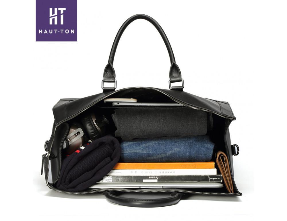 Молодёжная дорожная сумка Hautton TB9174A чёрная - Фото № 4