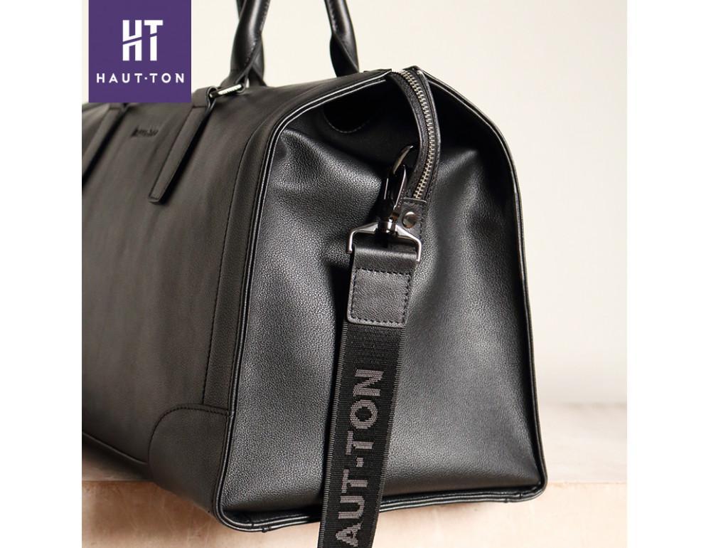 Молодёжная дорожная сумка Hautton TB9174A чёрная - Фото № 5