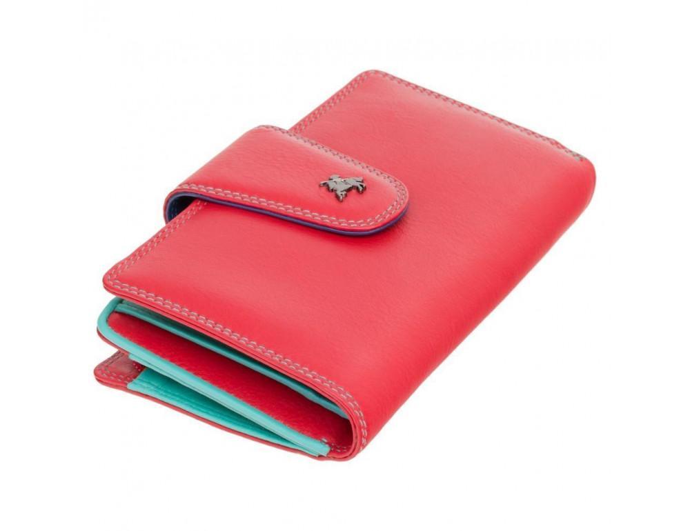 Стильный кожаный кошелёк красного цвета Visconti SP30 RED M с засчитой RFID - Фото № 1