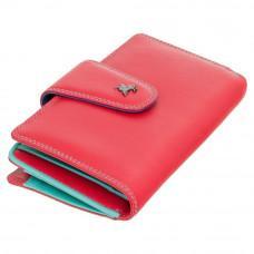 Стильный кожаный кошелёк красного цвета Visconti SP30 RED M с засчитой RFID