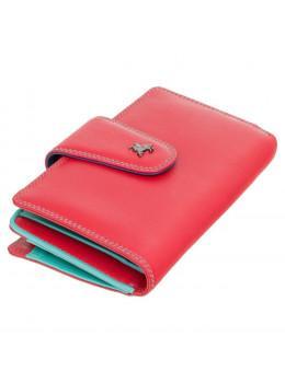 Стильний шкіряний гаманець червоного кольору Visconti SP30 RED M з засчітой RFID