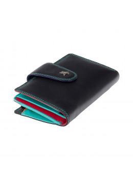 Чорний жіночий гаманець з натуральної шкіри Visconti SP30 BLK M