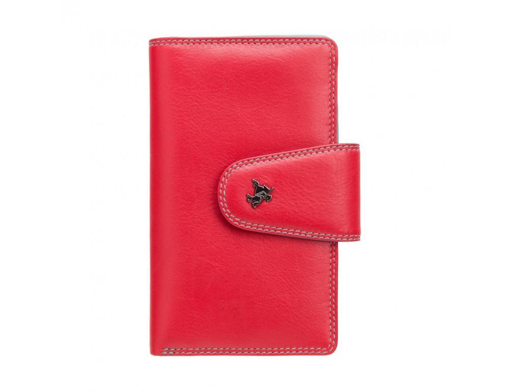 Стильный кожаный кошелёк красного цвета Visconti SP30 RED M с засчитой RFID - Фото № 5