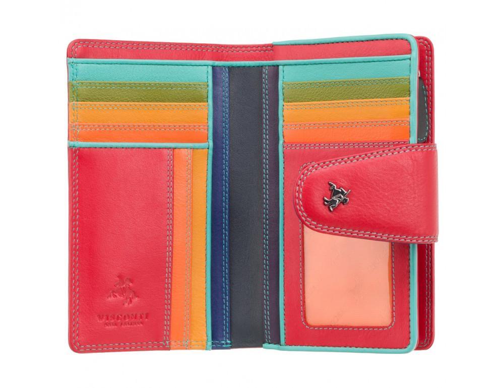 Стильный кожаный кошелёк красного цвета Visconti SP30 RED M с засчитой RFID - Фото № 2