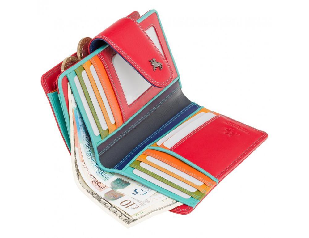 Стильный кожаный кошелёк красного цвета Visconti SP30 RED M с засчитой RFID - Фото № 3