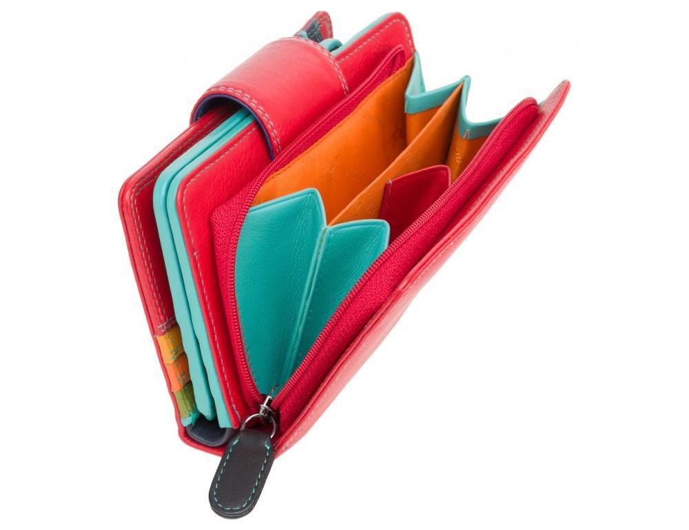 Стильный кожаный кошелёк красного цвета Visconti SP30 RED M с засчитой RFID - Фото № 4