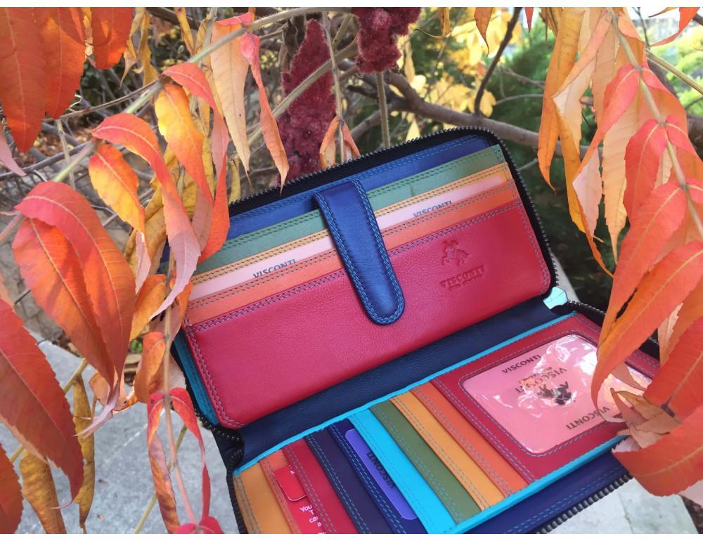 Женский кожаный портмоне Visconti SP33 RED M красный - Фото № 7