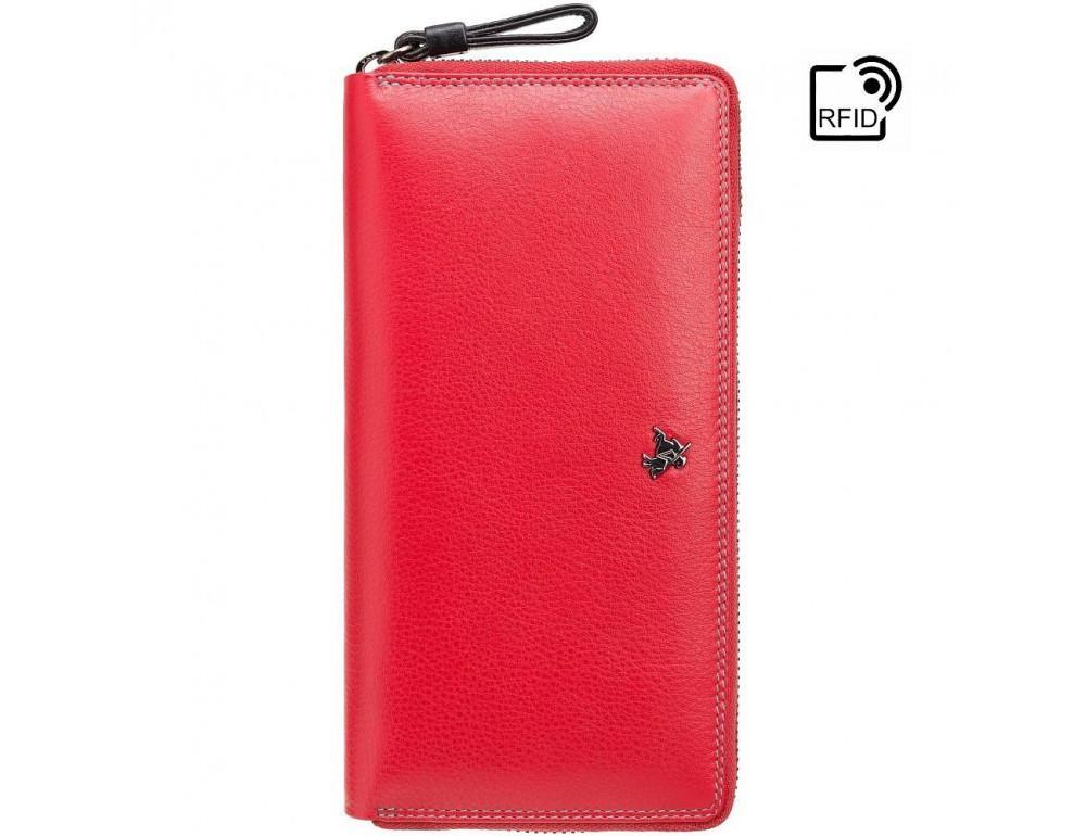 Женский кожаный портмоне Visconti SP33 RED M красный - Фото № 3